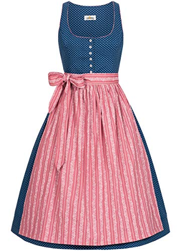 Almsach Damen Trachten-Mode Midi Dirndl Renate traditionell Gr.32-54