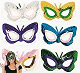 SALE - 12 Sequined Butterfly Masks for Parties | Costume Party Masks