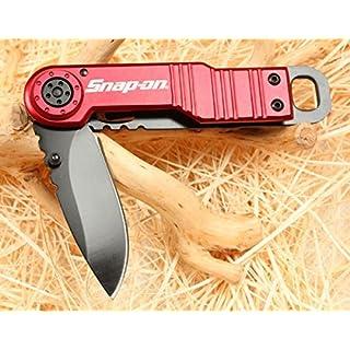 SNAP ON Red Bull Liner Loch Klappmesser Jagdmesser Überlebensmesser Taschenmesser Hunting Folding knife