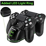 Tobo PS4 Dual Shock Controller Dual USB Charging Charger Docking Station for PS4/PS4 Slim/PS4 Pro Controller. (TP4-1781)