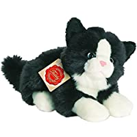 Hermann Teddy Collection 906896 20 cm Black/White Cat lying Plush Toy