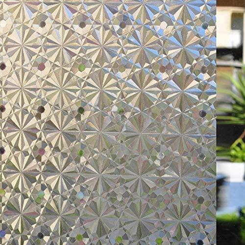 KUNHAN Fensterfolie Sichtschutzfolie 45/60 * 200cm 3D Static Matt Home Privacy Adhesive Window Film, Glasmalerei Aufkleber, Nicht Klebende Fensterabdeckungen (Glasmalerei-film Für Windows)