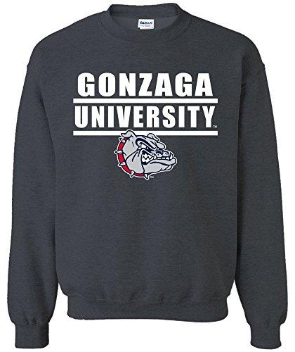 Image One NCAA Arizona Wildcats Sweatshirt für Erwachsene, NCAA Bars Logo Rundhalsausschnitt, Unisex-Erwachsene, Bars Logo, DarkHeather, XX-Large Gonzaga University Basketball