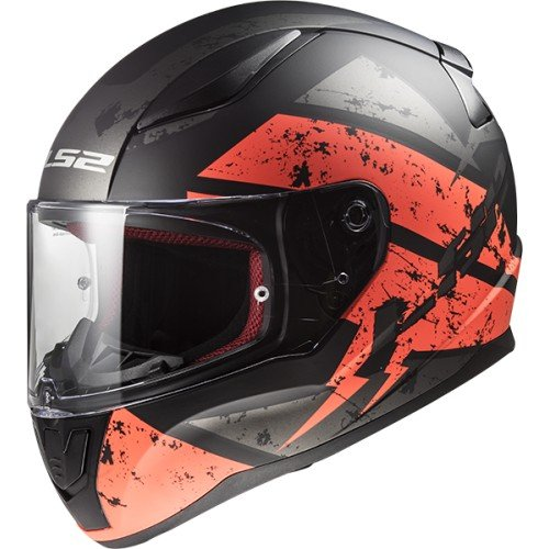 CASCO MOTO LS2 RAPID FF353 DEADBOLT MATT BLACK/ORANGE -TAGLIA M-