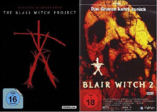 Preisvergleich Produktbild The Blair Witch Project 1+2,  dvd Set,  I & II,  deutsch uncut