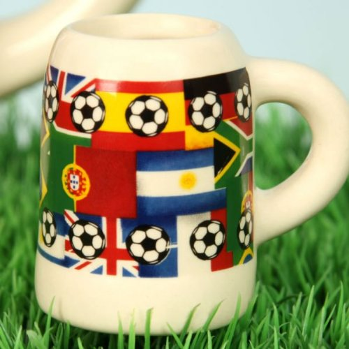 24 Stück FUSSBALL - KRUG STAMPERL SCHNAPS PARTY KRUG EM WM (Fußball-krug)