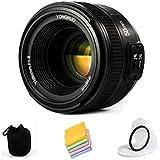 VILTROX YONGNUO YN50mm F1.8N Standard Prime Lens Large Aperture Auto Manual Focus AF MF For Nikon DSLR Cameras ,with Protective Lens Bag ,lens Filter