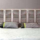 Stickers tête de lit persiennes