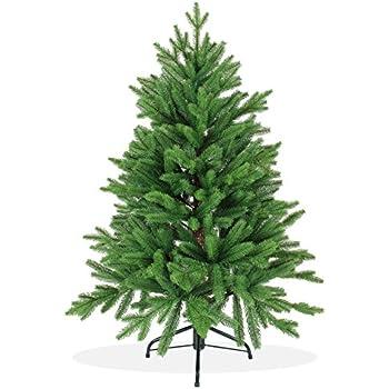 Künstlicher Weihnachtsbaum 120cm in Premium Spritzguss Qualität, grüne Nordmanntanne, Tannenbaum mit PE Kunststoff Nadeln, Nordmannstanne Christbaum