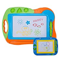 Erasable Magnetic Doodle Drawing Board - Hanmum Baby/Kids Big Size 2 in 1 Colorful Magnetic Doodler Sketch Drawing Board Teaching How To Draw Animals