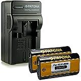 Nouveauté - 4en1 Chargeur + 2x Batterie comme Kodak Klic-8000 / Ricoh DB-50 pour Kodak EasyShare Z612 | Z712is | Z812is | Z8612is | Z1012 | Z1012is | Z1015is | Z1085is | Z1485is | Z8612is | Zx1 | RICOH Caplio R1 | R1S | R2 | RZ1 | R-1