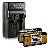 Bundle - 4in1 Caricabatteria + 2x Batteria Kodak Klic-8000 / Ricoh DB-50 per Kodak EasyShare Z612 | Z712is | Z812is | Z8612is | Z1012 | Z1012is | Z1015is | Z1085is | Z1485is | Z8612is | Zx1 | RICOH Caplio R1 | R1S | R2 | RZ1 | R-1