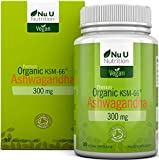 Ashwanghanda Organic Vegan 300mg Capsules | 90 Capsules - 3 Month's Supply | Certified Organic Ashwagandha KSM-66 by The Soil Association | Ayurvedic Withania Somnifera | Made in The UK