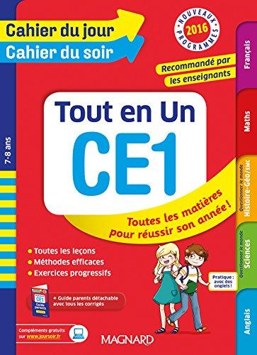 Cahier du jour/Cahier du soir Tout en Un CE1 - Nouveau programme 2016 par Collectif