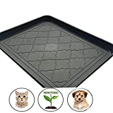 Easyology Premium Pet Food Tray - Large Dog Food Mat/Cat Food Mat With Non Skid Design - Best For Containing Spills and as Pet Feeding Mat