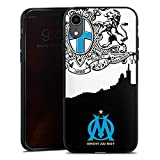 DeinDesign Coque en Silicone Compatible avec Apple iPhone XR Étui Silicone Coque Souple Olympique de Marseille Produit sous Licence Officielle Om Massilia