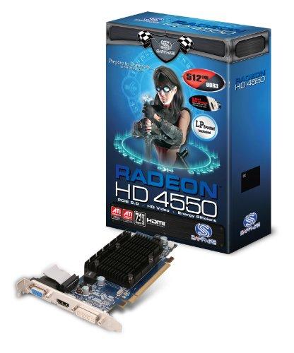 Sapphire ATI Radeon HD4550 Grafikkarte  (PCI-e, 512MB GDDR3 Speicher, DVI, HDMI, VGA, 1 GPU) Full Retail -