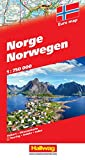 Norwegen Strassenkarte: Mit Distoguide, BeeTagg, Massstab 1:750 000 (Hallwag Strassenkarten)