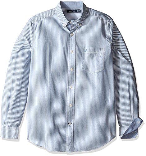 nautica-stripe-classic-fit-chemise-casual-homme-delft-xl