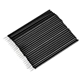 ATOMUS 100 Stück Einweg Eyeliner Pinsel Applikator Kosmetische Eyeliner Stange Kosmetische Werkzeug, Schwarz