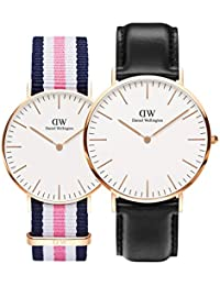 8c1b77c172f2 Daniel Wellington Classic Southampton and Classic Sheffield Rose Gold  Couple Watch Combo