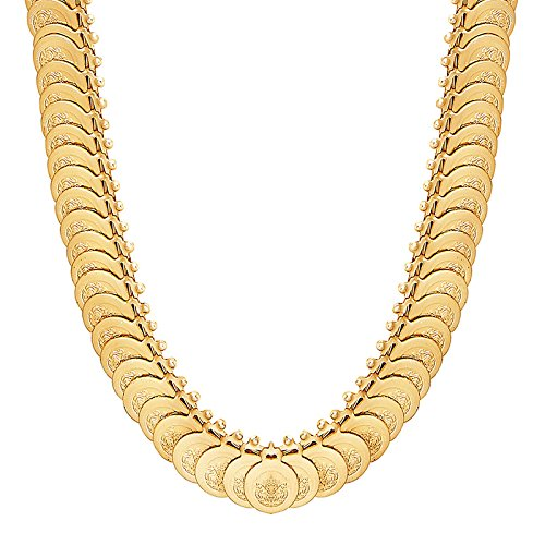 Shining Jewel 24K Gold Plated Temple Coin Necklace (SJ_2161)  available at amazon for Rs.281