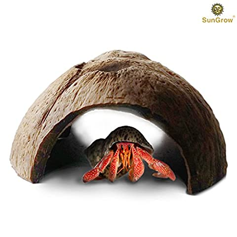 Natural SunGrow Connectable Coco Tunnel Hut for Spiders and Hermit