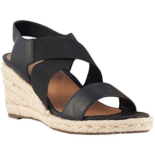 88614875a85a49 Vionic Womens Talum Ainsleigh Black Leather Sandals 41 EU
