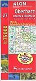Topographische Sonderkarten Niedersachsen. Sonderblattschnitte auf der Grundlage der amtlichen topographischen Karten, meistens grösseres Radwanderkarte Niedersachsen, Bl.27, Oberharz -