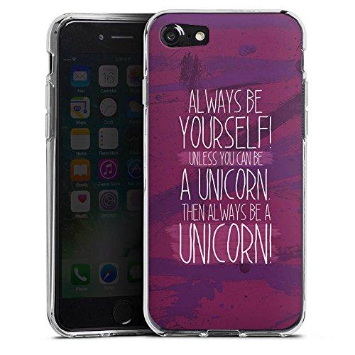 Apple iPhone X Silikon Hülle Case Schutzhülle Einhorn Unicorn Lustig Silikon Case transparent