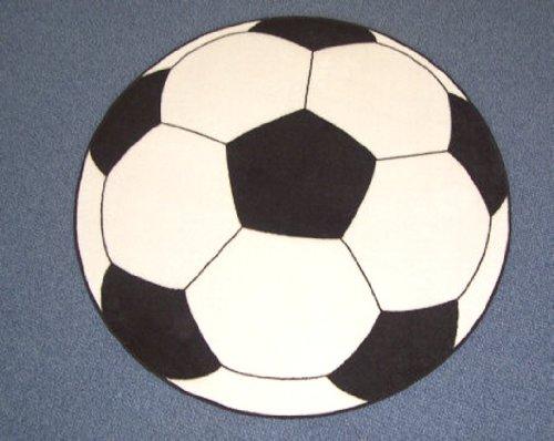 Kinderspielteppich Fußball rund