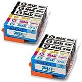 Aoioi 364 Cartucce Compatibili HP 364 XL per HP photosmart 5520 5510 6520 7520 7510 6510,Premium C309g B010 B109a B110,HP Deskjet 3520 3070A,HP Officejet 4620 4622 (6 Nero,2 Ciano,2 Magenta,2 Giallo)