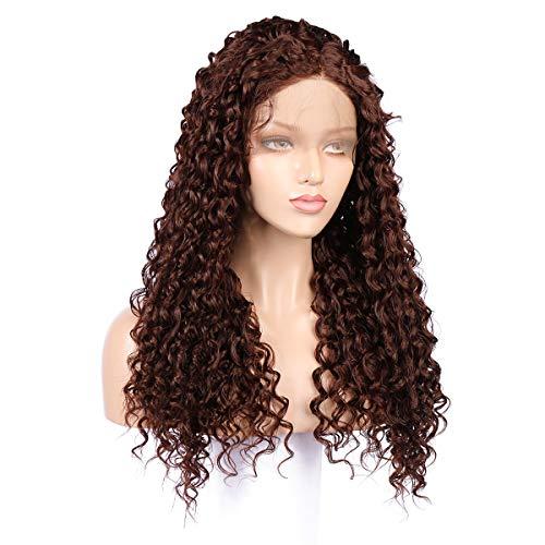 Waselia - front lace perücken damen/lace haarteil, perücken lang locken,haarteil haargummi gelockt, sehr langes gelocktes haarteil, perücken damen kurzhaar strähnchen, coole perücken für mädchen -