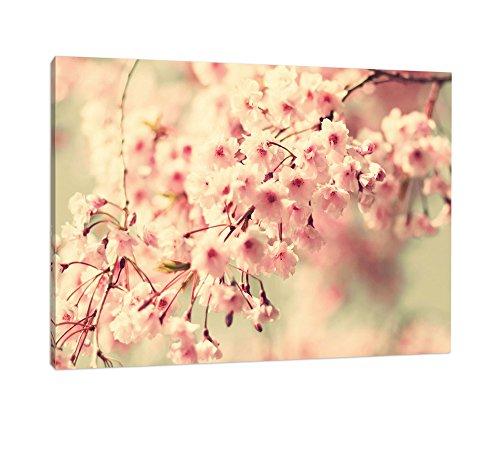 Kirschblüten romantisch XL riesige Bilder fertig gerahmt mit Keilrahmen, Kunstdruck auf Wandbild...