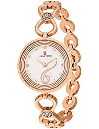 Swiss Trend Crystal Studded luxury Rose Gold women's wrist watch