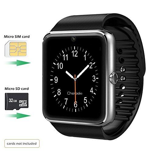 Reloj Inteligente Smartwatch Bluetooth 4.0 con la Batería de larga duración y la Camara de BraceTek con Instrucción en Español  Análisis de Sueño Podómetro Fitness tracker para moviles Android