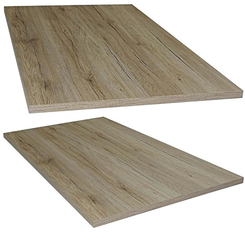 Tischplatte San Remo Eiche Holz Platte für Couchtisch Esstisch Schreibtisch 95 x 56 cm