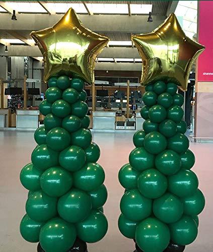 Ballons, 102 Stück PentagramFolien Ballons für Hochzeit Deko, Geburtstag Partydeko,Babydusche Mädchen Junge Dunkel Grün Latexballons Weihnachten ()