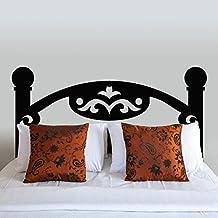 """Cabecero de cama adhesivo pared de pizarra de madera para pared vinilo decoración de la pared clásico cabecero de cama cabecero de cama sala de pared gráfico arte decoración, vinilo, negro, 24""""hx54""""w"""
