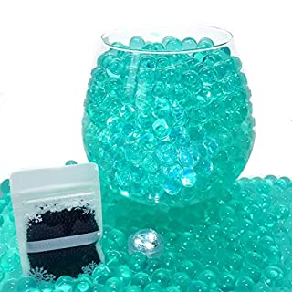 Little Snow Direct ® 20g Aqua Water Crystal Beads Crystal Soil Gems Bio Gel Balls Wedding Vase Decoration - Waterproof LED Light Included - Teal