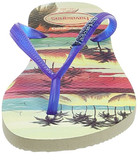 Havaianas Damen Flip Flops Slim Paisage Mehrfarbig (Beige/Blue 8747)