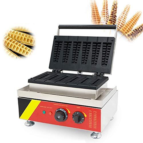 CGOLDENWALL NP-503 Gofrera Máquina de Gofre con Forma de 6pcs Árbol de Navidad Profesional Waffle Maker Eléctrica Antiadherente con 0-300℃ Temperatura Ajustable & 0-5min Temporizador Certificado CE