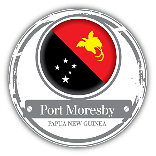 port-monesby-papue-new-guinea-world-flag-badge-art-decor-autocollant-12-x-12-cm