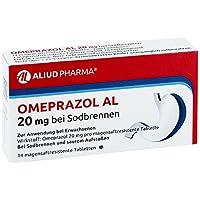 OMEPRAZOL AL 20 mg b.Sodbr.magensaftres.Tabletten 14 St Tabletten magensaftresistent preisvergleich bei billige-tabletten.eu