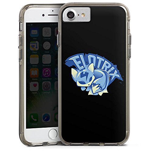 Apple iPhone X Silikon Hülle Case Schutzhülle Elotrix Fanartikel Merchandise Youtuber Bumper Case transparent grau