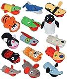 Unbekannt 2 in 1: Waschhandschuh + Handpuppe Drache für Kinder - Handspielpuppe Handpuppen Tier Baby Drachen / Dino Waschlappen zum Spielen und Waschen