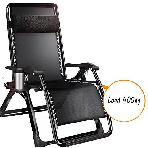L&J Balkonstuhl,Klappbare Liegestühle Verstellbare ruhesessel mit kopfstütze für Office Beach...