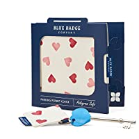 Blue Badge Company Emma Bridgewater Hearts Disabled Parking Permit Cover with Matching Radar Toilet Key