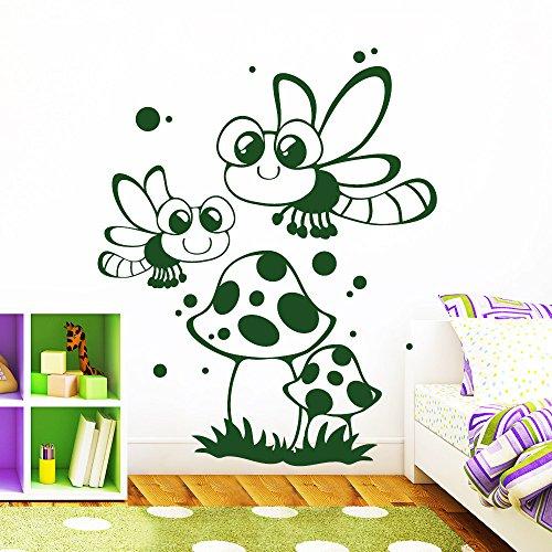 """Wandtattoo Loft """"Glühwürmchen im Wald"""" - Wandtattoo / 49 Farben / 4 Größen / brillantblau / 115 x 141 cm"""