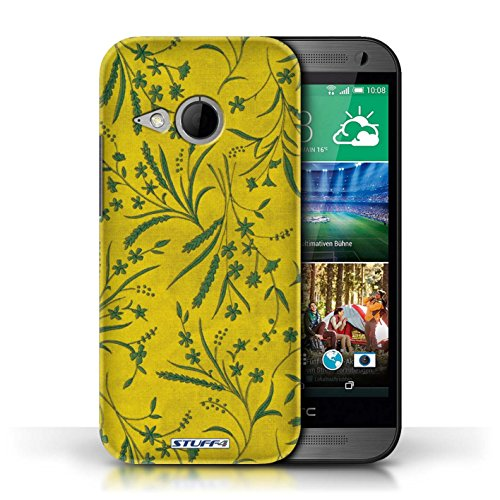 printed-hard-back-case-for-htc-one-1-mini-2-wheat-floral-pattern-collection-yellow-green